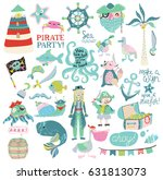 pirate party collection  ... | Shutterstock .eps vector #631813073