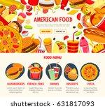 fast food restaurant banner... | Shutterstock .eps vector #631817093