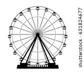 ferris wheel fair entretaiment... | Shutterstock .eps vector #631824677