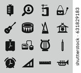 instrument icons set. set of 16 ... | Shutterstock .eps vector #631829183