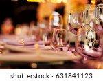 luxury table setting   | Shutterstock . vector #631841123