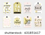 cute summer tags set for your... | Shutterstock .eps vector #631851617