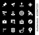 vector white navigation icons... | Shutterstock .eps vector #631867223