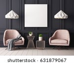 mock up poster in a classic... | Shutterstock . vector #631879067