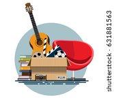 illustration of a cardboard box ... | Shutterstock .eps vector #631881563