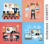 set of business presentations....   Shutterstock .eps vector #631889573