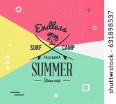 surfing school and rental... | Shutterstock .eps vector #631898537