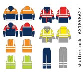 set of protective wear on white ... | Shutterstock .eps vector #631898627