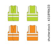 set of protective wear on white ... | Shutterstock .eps vector #631898633