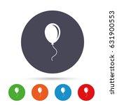 balloon sign icon. birthday air ... | Shutterstock .eps vector #631900553