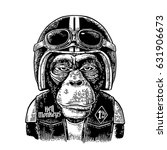 Monkey In The Motorcycle Helme...
