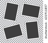 set of retro photo frame with... | Shutterstock .eps vector #631911857