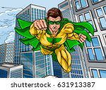 pop art comic book super hero... | Shutterstock .eps vector #631913387