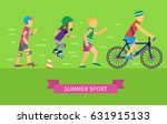 summer sport vector concept.... | Shutterstock .eps vector #631915133