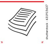 document files icon | Shutterstock .eps vector #631915637