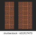 laser cutting set. wall panels. ...   Shutterstock .eps vector #631917473