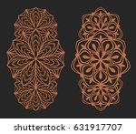 laser cutting set. wall panels. ... | Shutterstock .eps vector #631917707