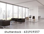 office corridor with a ceo room ... | Shutterstock . vector #631919357