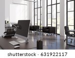 office interior with tall... | Shutterstock . vector #631922117