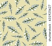 seamless floral pattern with... | Shutterstock . vector #631925627