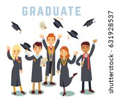 university young graduate... | Shutterstock .eps vector #631928537