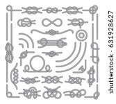 Nautical Rope Knots Vector...