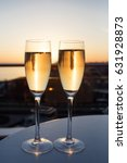 the champagne stand on the... | Shutterstock . vector #631928873