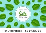 banner for sale with flying... | Shutterstock .eps vector #631930793