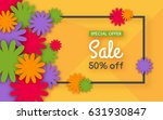 sale background with colorful... | Shutterstock .eps vector #631930847