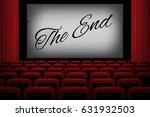 movie theatre with the end text ... | Shutterstock .eps vector #631932503