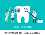 dental clinic concept design... | Shutterstock .eps vector #631932887