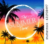 illustration of summer time... | Shutterstock .eps vector #631938497