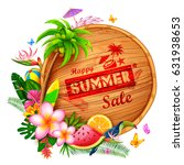 illustration of summer time... | Shutterstock .eps vector #631938653