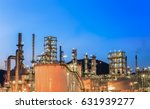 petrochemical industrial plant... | Shutterstock . vector #631939277
