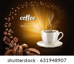 filled coffee cup and countless ... | Shutterstock .eps vector #631948907