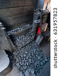 Small photo of Coal provision for locomotive steam boiler
