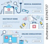 medical banners set. concept... | Shutterstock . vector #631965737