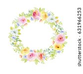 painted watercolor composition... | Shutterstock . vector #631966253