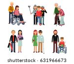 disabled person with his... | Shutterstock .eps vector #631966673