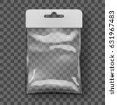 transparent blank plastic bag... | Shutterstock .eps vector #631967483