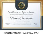 certificate template with... | Shutterstock .eps vector #631967597