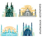 muslim mosque isolated flat... | Shutterstock .eps vector #631969493