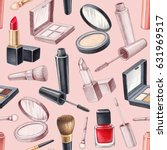 illustrations of make up... | Shutterstock . vector #631969517