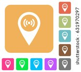 free wifi hotspot flat icons on ... | Shutterstock .eps vector #631970297