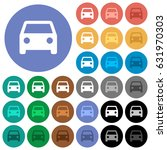 car multi colored flat icons on ... | Shutterstock .eps vector #631970303