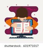 person develops a application... | Shutterstock .eps vector #631971017