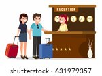 receptionist at a reception... | Shutterstock .eps vector #631979357