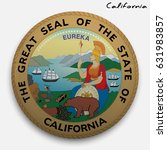 great seal of the usa state of... | Shutterstock .eps vector #631983857