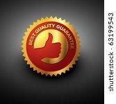 vector best quality label in... | Shutterstock .eps vector #63199543