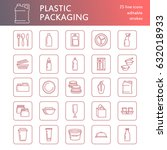 plastic packaging  disposable... | Shutterstock .eps vector #632018933